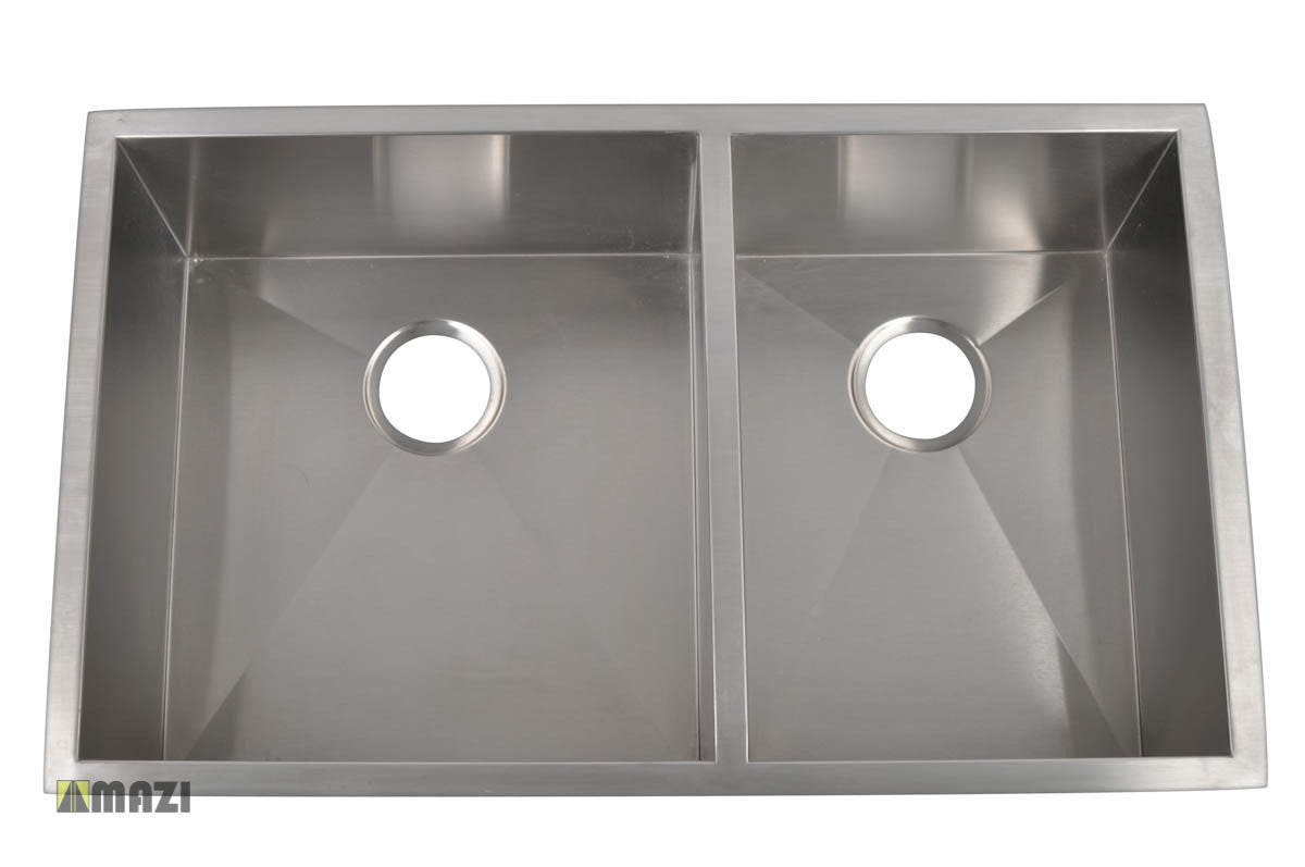 stainless steel handmade kitchen sink hbo3320a_l – mazi, inc.