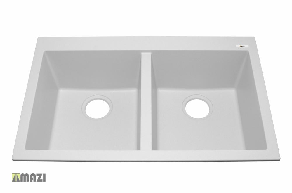 Granite Kitchen Sink IT5050SQ79_Aluminum