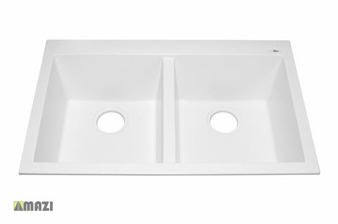 Granite Kitchen Sink IT5050SQ96_White