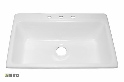 Cast Iron Kitchen Sink NH6008