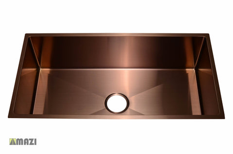 Stainless Steel Handmade Color Kitchen Sink SB1294 Copper Color