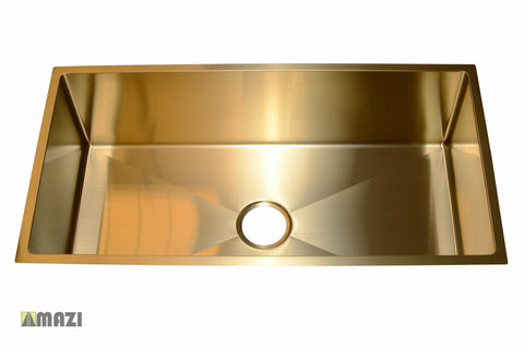 Stainless Steel Handmade Color Kitchen Sink SB1294 Gold Color