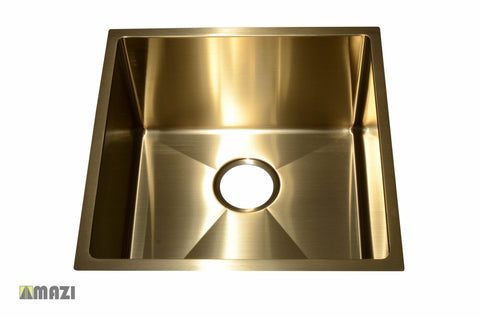 Stainless Steel Handmade Color Kitchen Sink SB1295 Gold Color