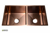 Stainless Steel Handmade Color Kitchen Sink SB2130 Copper Color