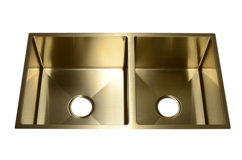 Stainless Steel Handmade Color Kitchen Sink SB2130 Gold Color