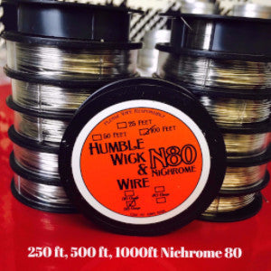 250ft, 500ft and 1000ft spools 36,38 and 40 Gauge Nichrome 80
