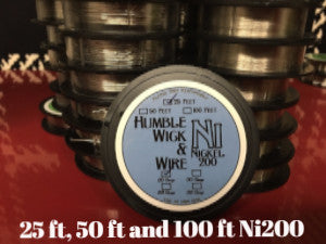 25ft, 50ft and 100ft spools Nickel Wire (ni200)