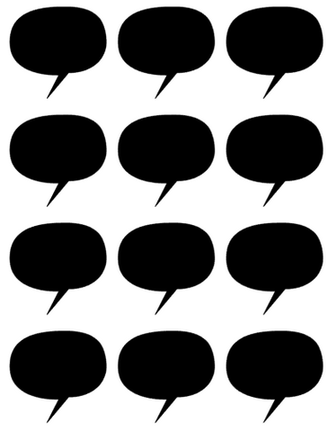 Speech Bubble Blackboard Labels - L&O Designs