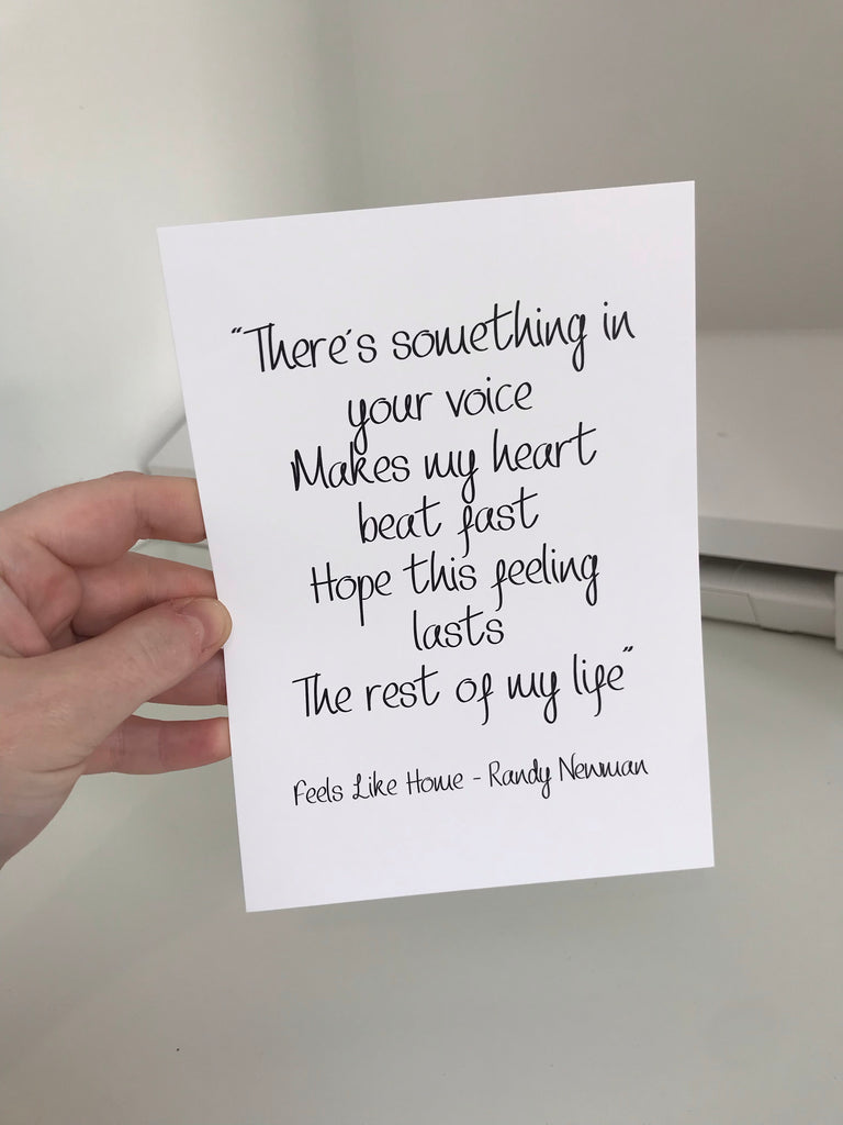 There's Something In Your Voice (Randy Newman Lyrics) - Mono - 7x5 - L&O Designs