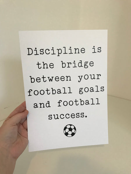 Discipline Is The Bridge - Mono - A4 - L&O Designs