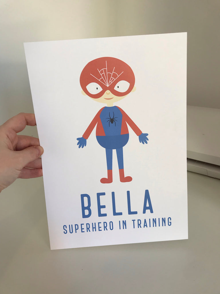 Bella Superhero In Training - Mono - A4 - L&O Designs