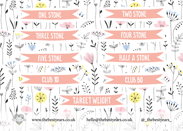 Weight Loss Stickers - L&O Designs