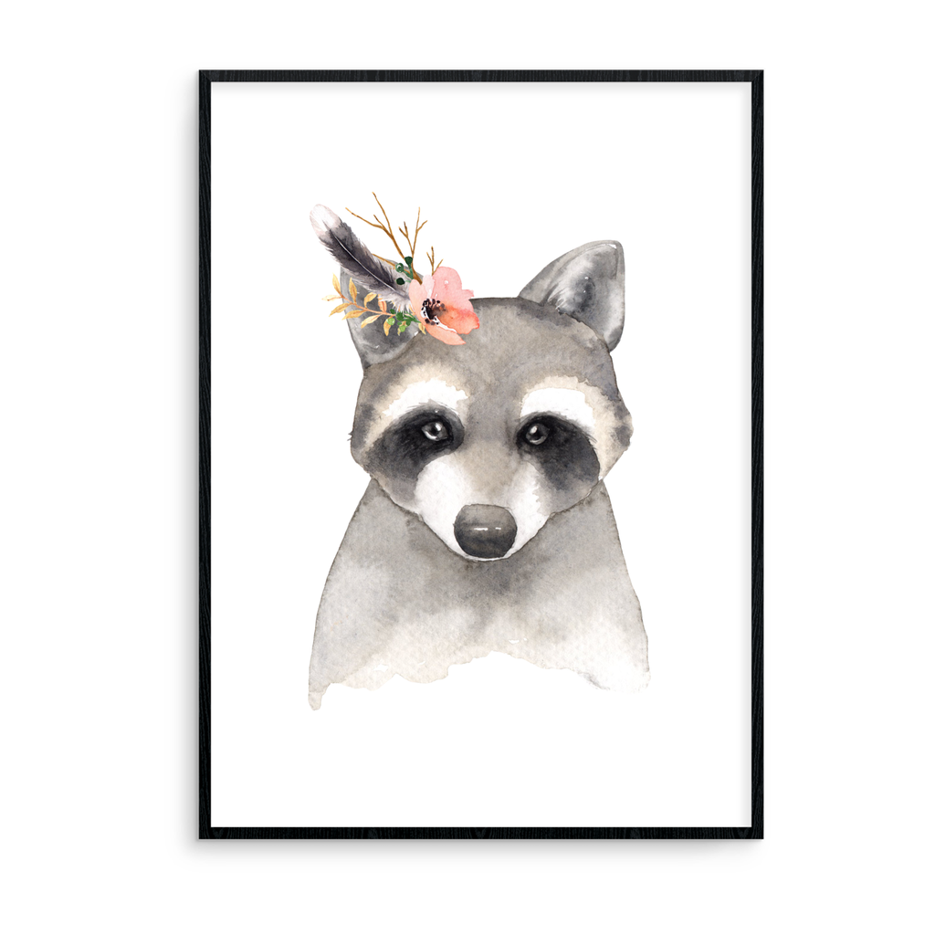 Badger With Flowers - L&O Designs