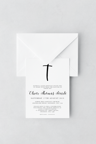 Baptism Invitation - Design 1 - L&O Designs