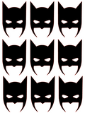 Batmask Vinyl Transfers - L&O Designs
