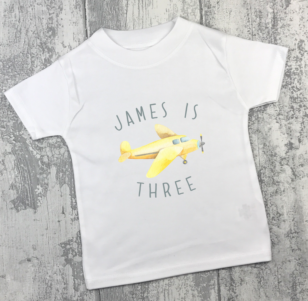 Personalised Birthday - Aeroplane - L&O Designs