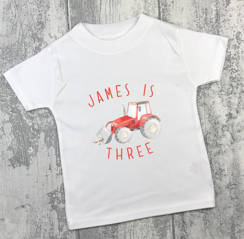 Personalised Birthday - Tractor - L&O Designs