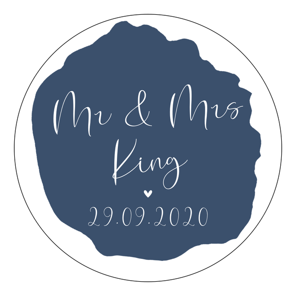 Blue - Round Sticker Design 5 - L&O Designs