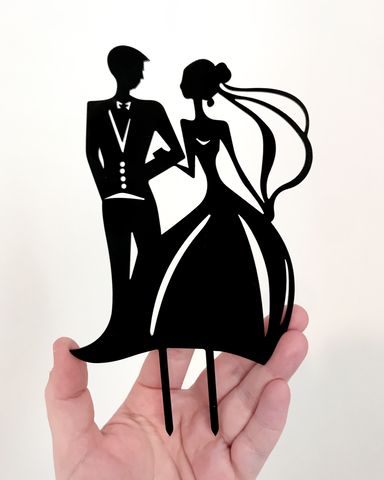 Couple Acrylic Cake Topper - L&O Designs