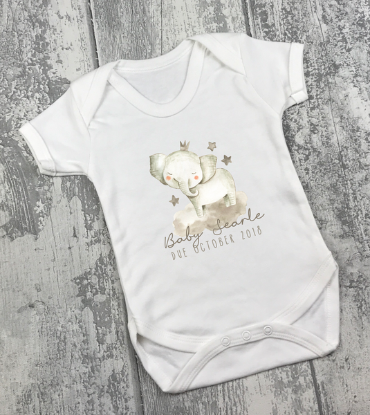 Pregnancy Announcement Vest - Elephant - L&O Designs
