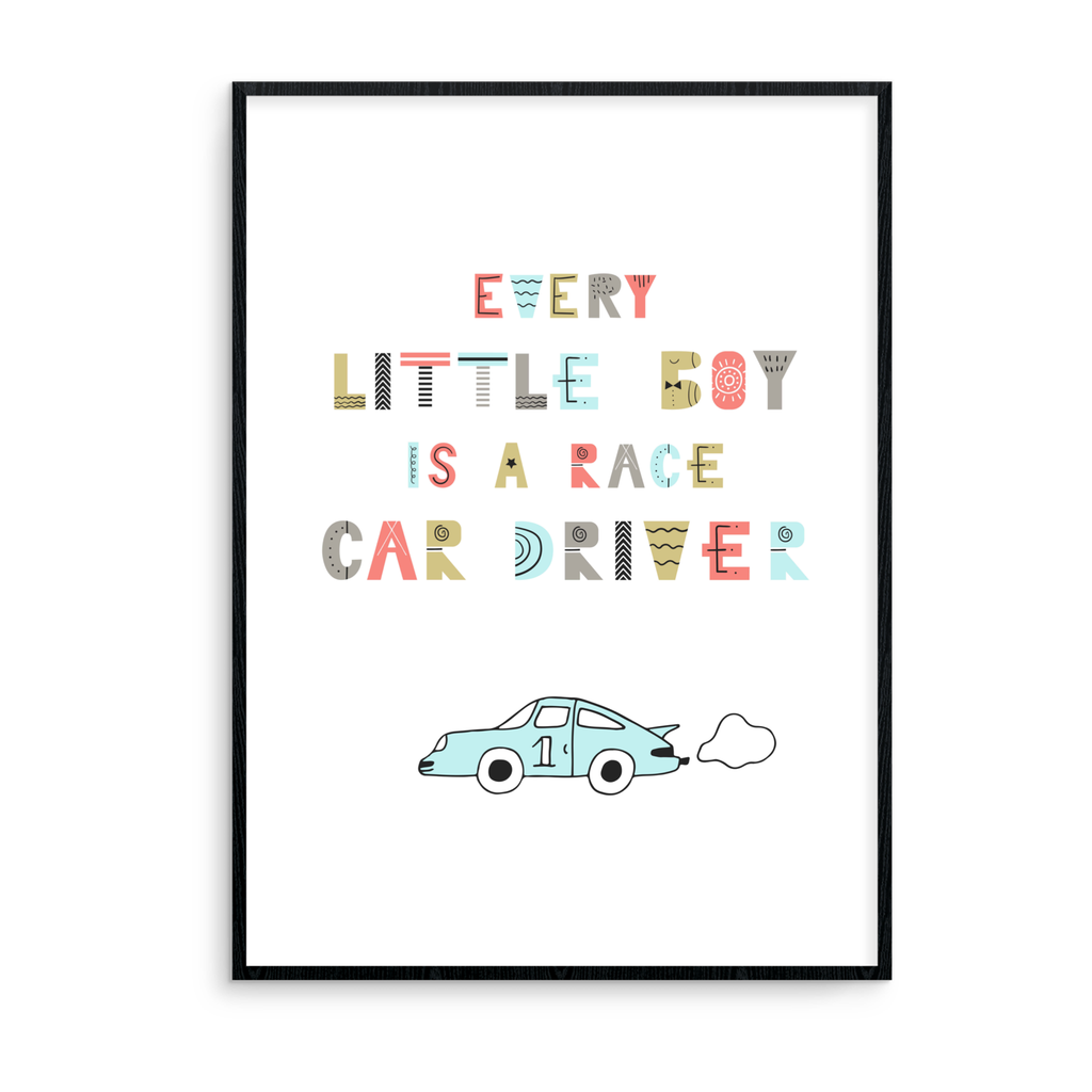Every Little Boy Is A Race Car Driver - L&O Designs
