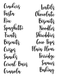 Organisation Labels - Font 7 - L&O Designs