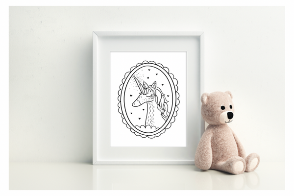 Framed Unicorn - L&O Designs