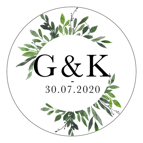 Greenery 2 - Round Sticker Design 3 - L&O Designs