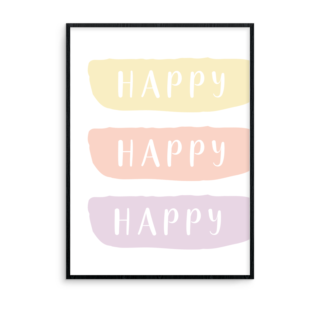 Happy Happy Happy - Pastel - L&O Designs
