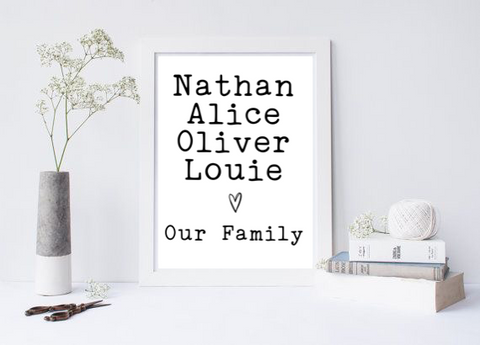 Our Family - L&O Designs