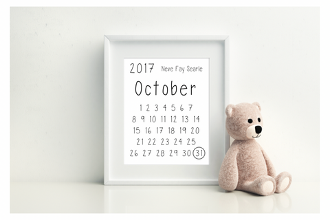 Calendar Pregnancy/Birth Announcement - L&O Designs