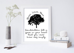 Grandchildren Fill A Space In Your Heart That You Never Knew Was Empty - L&O Designs