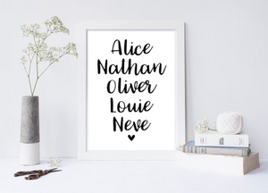 Family Names - L&O Designs