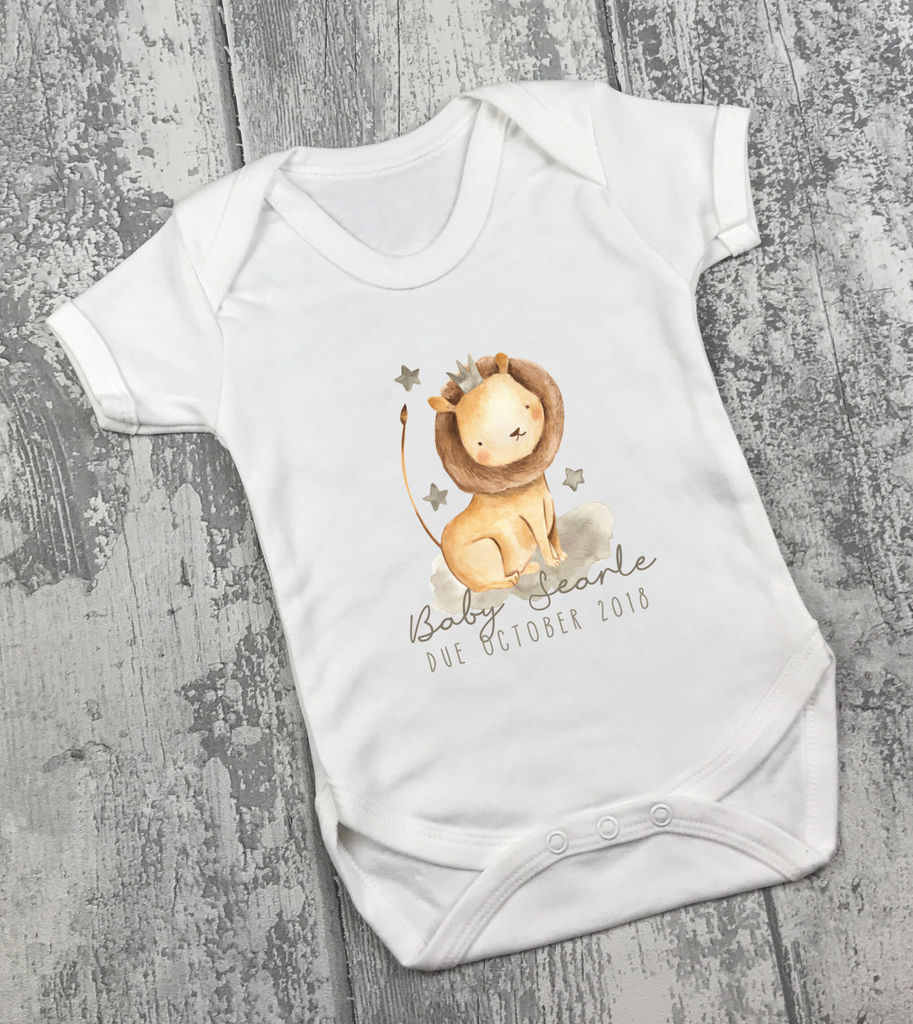 Pregnancy Announcement Vest - Lion - L&O Designs