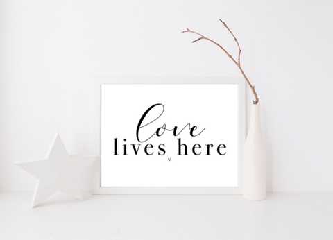 Love Lives Here - L&O Designs
