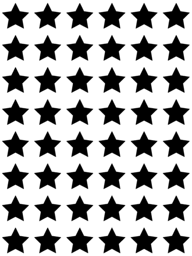Mini Star Vinyl Transfers - L&O Designs