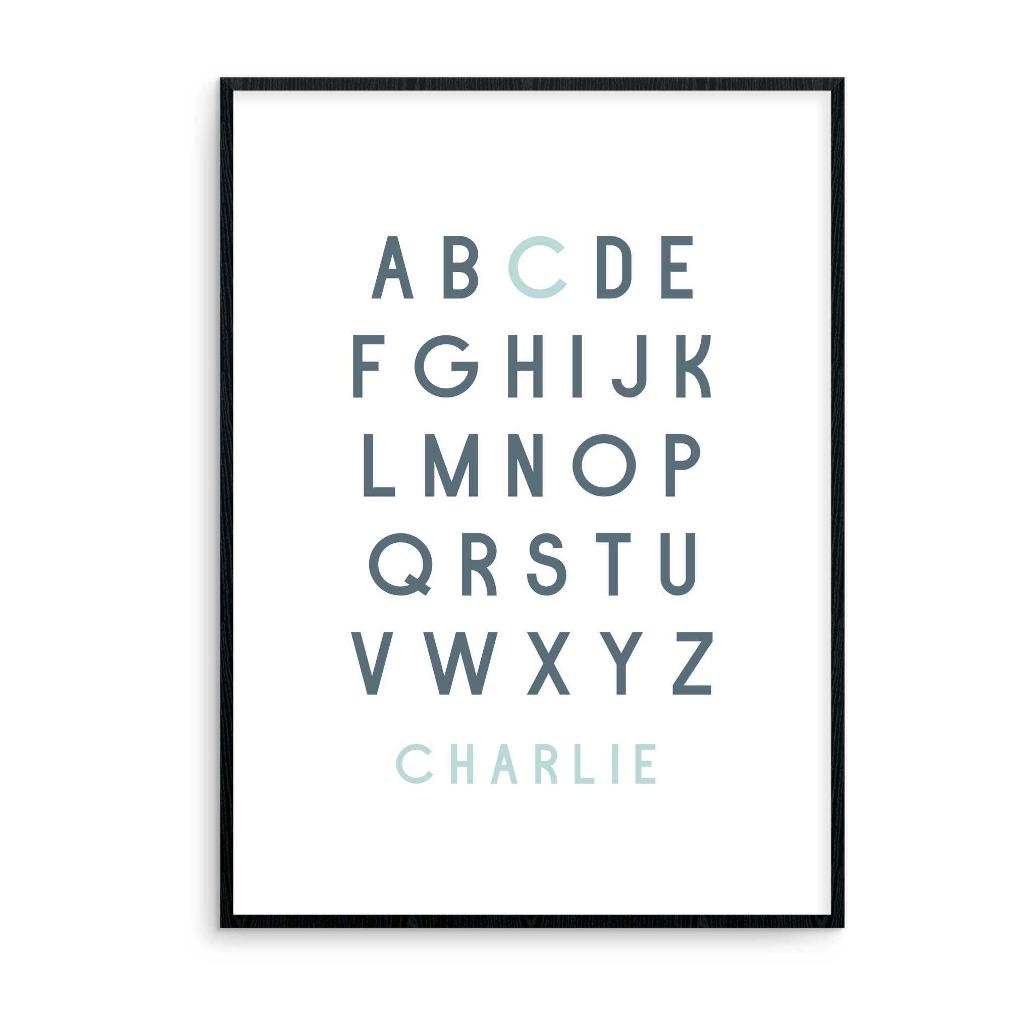 Mint Personalised Alphabet - L&O Designs