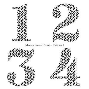 Patterned Birthday - Monochrome Spot - L&O Designs