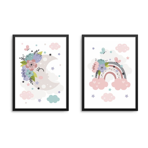 Moon & Rainbow Set Of 2