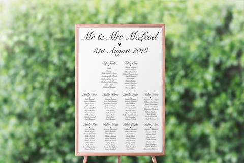 Seating Plan - L&O Designs