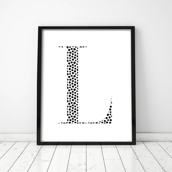 Patterned Initial - Design 5 - L&O Designs