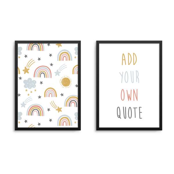 Rainbow & Personal Quote Set