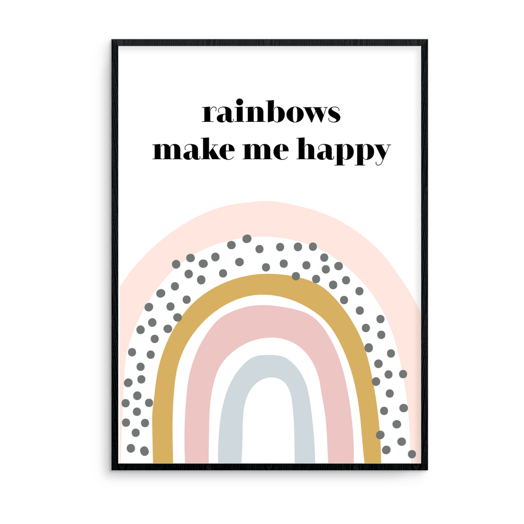Rainbows Make Me Happy - L&O Designs