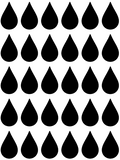 Raindrop Vinyl Transfers - L&O Designs