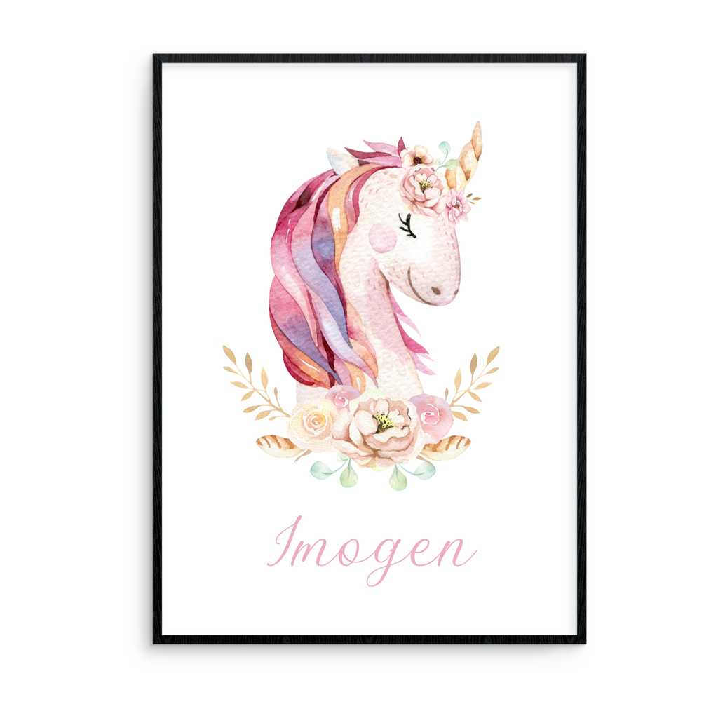 Watercolour Unicorn - Personalised