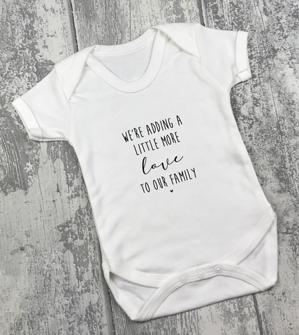 We're Adding A Little More Love To Our Family - L&O Designs