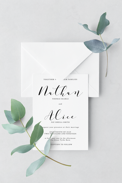 Wedding Invitation - Design 10 - L&O Designs