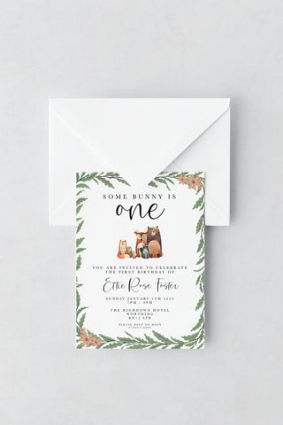 Woodland Birthday Invitations - Design 1 - L&O Designs