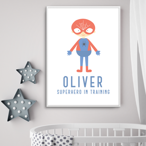 Personalised Superhero In Training - L&O Designs