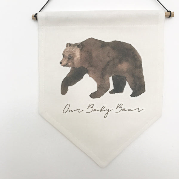 Our Baby Bear Banner - L&O Designs
